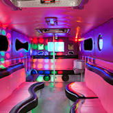 25 Seater Pink Panther Party Buses