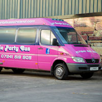 16 Seater VIP Boogie Party Coach exterior 1