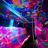 16 Seater VIP Boogie Party Coach interior 1