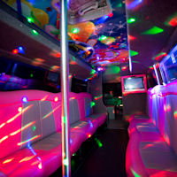 16 Seater VIP Boogie Party Coach interior 2