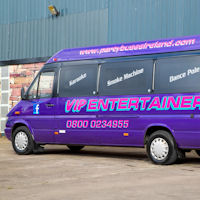 16 Seater VIP Entertainer Party Coach exterior 2