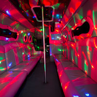 16 Seater VIP Entertainer Party Coach interior 1