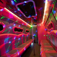 16 Seater VIP Entertainer Party Coach interior 2