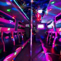 16 Seater VIP Limo Party Coach interior 1