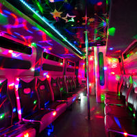 16 Seater VIP Limo Party Coach interior 2