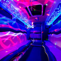 22 Seater Pink Panther Party Coach interior 1