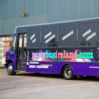 22 Seater Purple Party Coach exterior 2