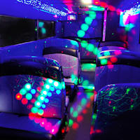 22 Seater VIP Party Bus interior 1