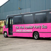 26 Seater Pink Panther Party Coach exterior 2