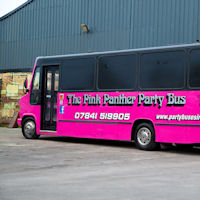 27 Seater Pink Panther Party Coach exterior 2