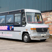 27 Seater VIP Entertainer Party Coach exterior 1