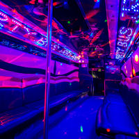 28 Seater VIP Entertainer Boogie Party Coach interior 2