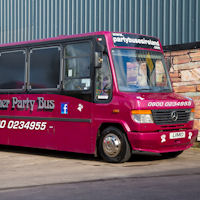 29 Seater Pink Panther Party Coach exterior 1
