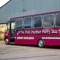 29 Seater Pink Panther Party Coach exterior 2
