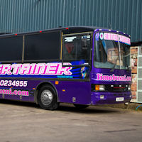 39 Seater VIP Entertainer Party Coach exterior 1