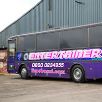39 Seater VIP Entertainer Party Coach exterior 2