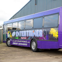 44 Seater VIP Entertainer Party Coach exterior 2