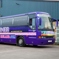 47 Seater VIP Entertainer Party Coach exterior 1