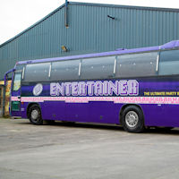 47 Seater VIP Entertainer Party Coach exterior 2