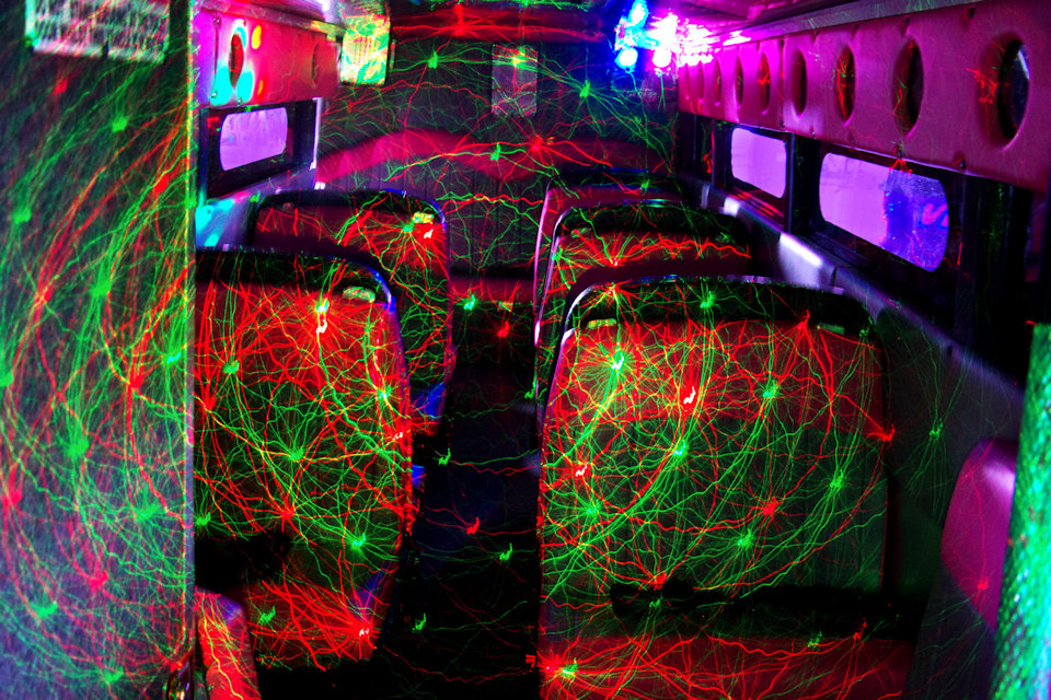 Inside the 29 Seater VIP Party Bus