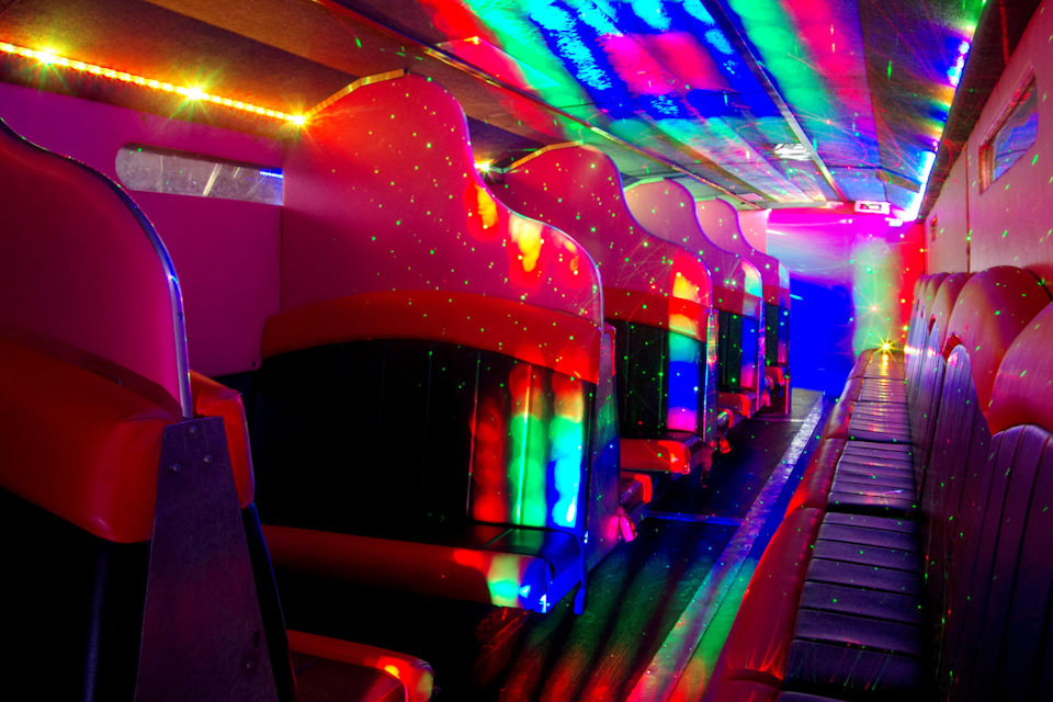 Inside the 49 Seater VIP Entertainer